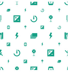 photographer icons pattern seamless white vector image
