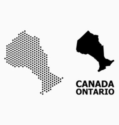 Pixelated mosaic map ontario province vector