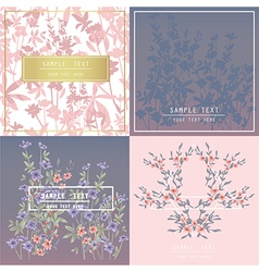 Printable spring wall art with floral pattern vector