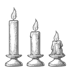 process candle burning vector image