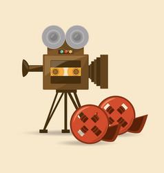 Retro videocamera design vector