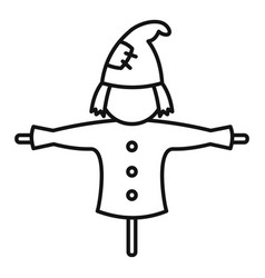 Rural scarecrow icon outline style vector