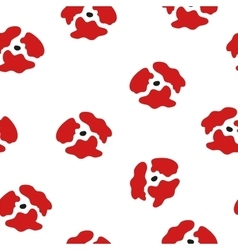 Seamless pattern of red poppies Floral pattern of vector
