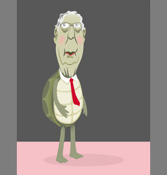 senator mitch mcconnell as a turtle in a red tie vector image
