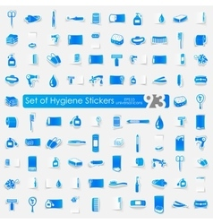 Set of hygiene stickers vector