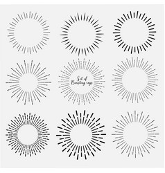 set of sunburst vector image