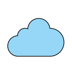 single blue cloud icon image vector image