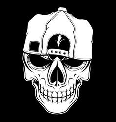 Skull retrovintagedetail hand drawing vector