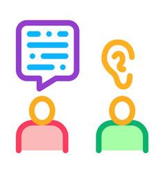 Speak and listen icon outline vector