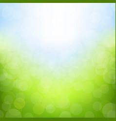 spring bokeh vector image