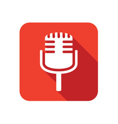 stylish microphone icon vector image