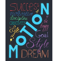 Success lifestyle lettering vector image