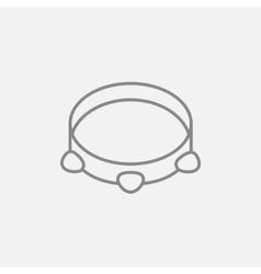 Tambourine line icon vector image