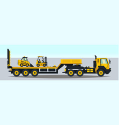 the truck carrying the trailer construction vector image