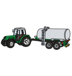 Tractor with tank vector
