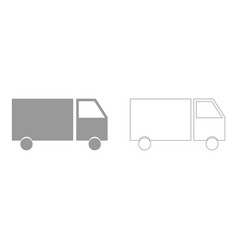 truck the grey set icon vector image