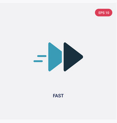 Two color fast icon from multimedia concept vector