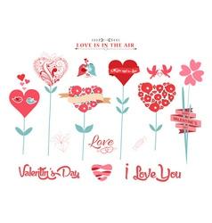 Valentine hearts tree vector