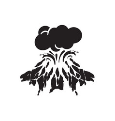 Volcanic eruptions icon vector