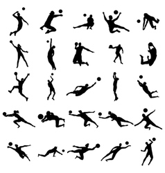 Volleyball Silhouette set vector
