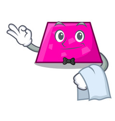 waiter trapezoid mascot cartoon style vector image
