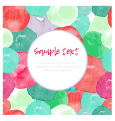 Watercolor splashes greeting card vector