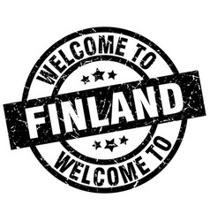 welcome to finland black stamp vector image