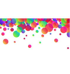white background with colour drops vector image