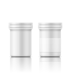 White plastic bottle for pills vector image
