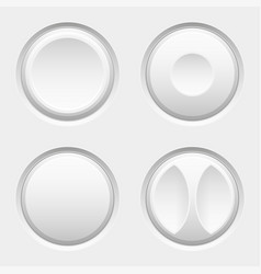 white web buttons round icons active normal vector image