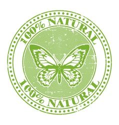 100 natural stamp vector image