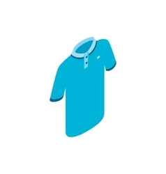 Blue men polo shirt icon isometric 3d style vector