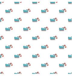 crawler excavator truck pattern seamless vector image vector image