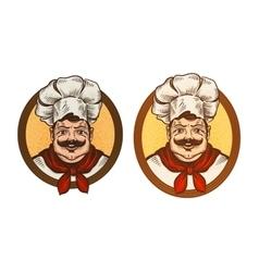 Restaurant cafe logo Cook chef or vector image