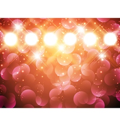 spotlights with stars vector image vector image