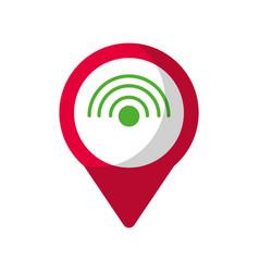 wifi internet social media round pointer we vector image