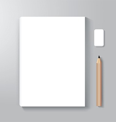 Book cover design style template vector