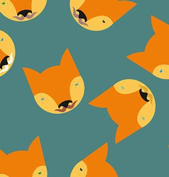 Fox Seamless pattern Animals background vector image