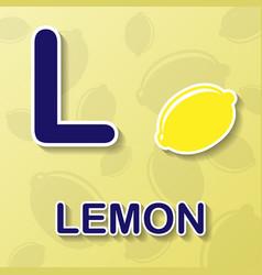 lemon alphabet background vector image