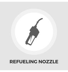 Refueling nozzle icon flat vector image