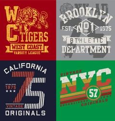 Vintage T-shirt Graphic Set vector image vector image