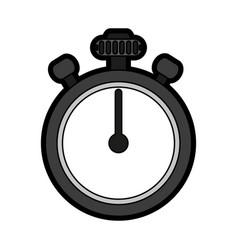 chronometer flat vector image