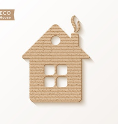 House of cardboard texture vector image