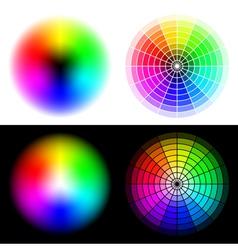 hsv color wheels vector image vector image