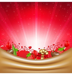 Valentines Day Card With Sunburst vector image vector image