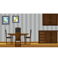 Wooden furniture in a home vector image