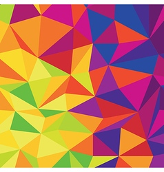 Abstract Low Poly Colorful Background Template vector image vector image