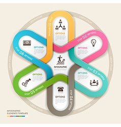 Business circle Infographics origami vector image vector image
