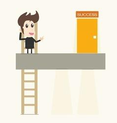 businessman climbing up vector image vector image