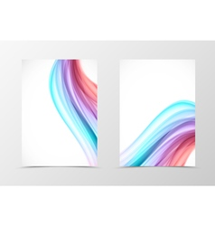 Front and back swirl flyer template design vector image vector image
